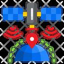 Satellite Location Signal Icon