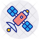 Satellite Communication Global Icon