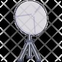 Satellite Antenna Orbit Icon