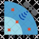 Satellite Coordinate Signal Icon