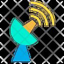 Radiotelescope Signal Space Icon