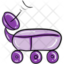 Satellite Car Space Car Parabolic Car Icon