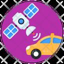 Wireless Car Satellite Car Broadcast Car Icon