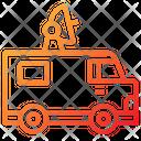 Satellite Car Car Transportation Icon