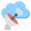 Satellite Cloud Connection Icon