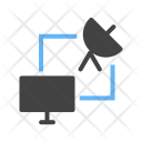 Satellite Connection Device Icon