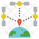 Coordination Point Place Icon