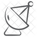 Parabolic Dish Satellite Antenna Radio Telescope Icon