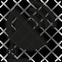 Satellite Dish Communication Signal Icon