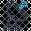 Satellite Dish Ground Icon