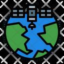 Satellite Gps Satellite Planet Earth Icon