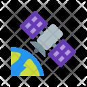 Satellite In Orbit Icon