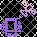 M Satellite Mobile Mobile Network Icon
