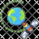 Satellite Orbit Icon