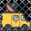 Msatellite Truck Satellite Truck Satellite Van Icon