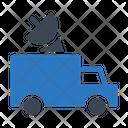 Satellite Van Press Icon