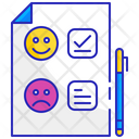 Satisfaction survey Icon