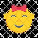 Emoji Satisfied Kid Icon