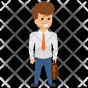 Satisfied Trader Entrepreneur Icon