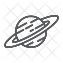Saturn Astronomy Space Icon
