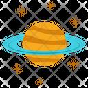 Saturn Solar System Astronomy Icon