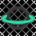 Orbit Saturn Planet Icon