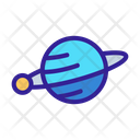 Space Saturn Planet Icon