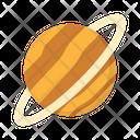 Saturn Planet Moon Icon