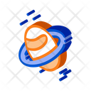 Space Planet Saturn Icon