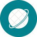 Saturn Globe Icon