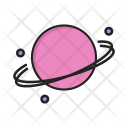 Saturn Global Planet Icon