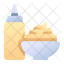 Sauce Sauce Bottle Sauce Bowl Icon