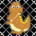 Saurischian Dinosaur Cartoon Icon