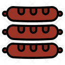 Sausage Meat Grilled Icon
