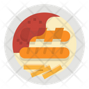 Suasage German Currywurst Icon