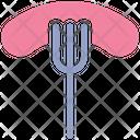 Food Fork Frankfurter Icon