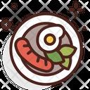 Sausage Egg Dish Egg Icon
