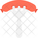 Sausage Barbecue Fork Icon