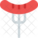 Grilled Sausage Food Icon