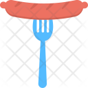 Grilled Sausage Junk Icon