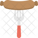 Grilled Sausage Fast Icon