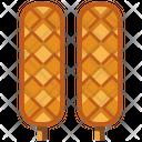 Sausage Waffle Icon
