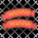 Hot Dog Sausages Frankfurter Icon