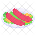 Hot Dogs Sausages Frankfurters Icon