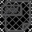 Sav File Document File Icon