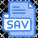 Sav Document File Icon