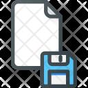 Save Floppy Paper Icon
