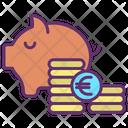 Mpiggy Bank Save Euro Savings Icon