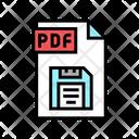Save Pdf File Icon
