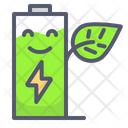 Battery Charge Green Energy Icon
